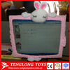 2015 new design lovely and decoratative rabbit shaped computer screen cover