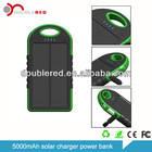2014 factory supply latest multi-function portable 5000mah solar charger power bank mini car jump starter 5000mAh