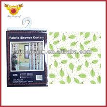 Beautiful Leaf Designs Bathroom waterproof Satin Shower window Curtain