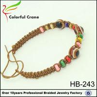 Evil eye tennis bracelets beads wrap bracelet colored suger cubes