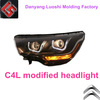 Citroen Headlight, Citroen C4L LED Double Angel Eyes Headlight