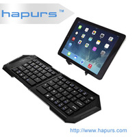 Hapurs black High Quality Ultra Slim Bluetooth Keyboard Compatible for iPad mini ,mini bluetooth keyboard for pc smart phones