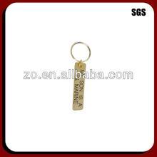 Innovative custom metal blank rectangular keychain