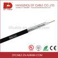 Cable Coaxial RG6 mensajero cable de 60% 90% 95% cobertura con de la jalea