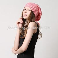 high quality fashion custom knitted pom beanie hat
