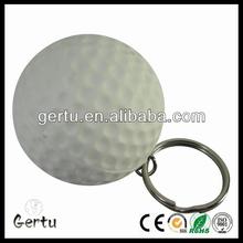pu foam golf shape stress ball keyring