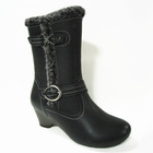 Low-heel leather china wholesale women boots