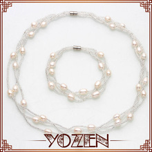 new design pearl jewelry ,complete pearl wedding jewelry set