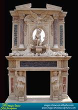 England luxury stone decorative fireplace mantle