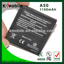 Long Life Cycle High Capacity A50 battery for HTC GarminFone Garmin A50 Bateria Batterie AKKU Accumulator