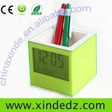 digital office desk running alarm clock