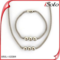 stain steel silver jewelry high quality jewelry set for women