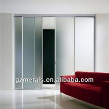Guangzhou factory best price glass door, bathroom sliding glass door