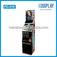 POS carton retail cardboard floor display for cosmetic promotion