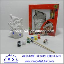 cute Ceramic diy craft for kids Snowman