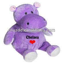Hippo Plush Toy / Plush Hippo Toys / Plush Purple Hippo Stuffed In Stone