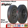 Rubber coated wheel, powder solid rubber wheel 8x1.75