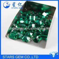 octogon emerald cut green color glass gems
