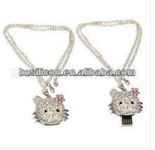 Lanyard jewelery usb flash drive high quality mini usb flash memory