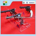 New design plexiglass pistols acrylic gun display stand,gun display holder,acrylic stand holder