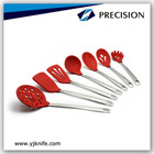 Silicone Kitchen Utensil Set with Stainless Steel Handle