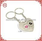 fob promotional custom beautiful metal heart keyring