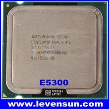 used pull clean Intel cpu E5300 2.6GHz 2MB SLGTL Intel pentium dual core cpu processor E5300 for desktop