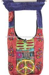 hippie hobo sling cross body bag,boho hippie wholesale shoulder bags,cotton bags wholesale hippie,hippie style bags