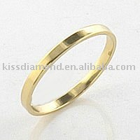 Gold Plated Stamping Band Ring Design