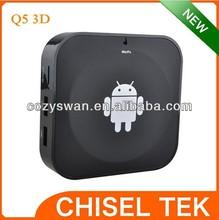 shenzhen wifi dual core ARM Cortex-A7 1.0GHz Android Q5 3D tv stick