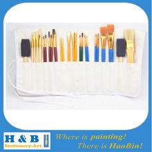 short wooden handle artist brush