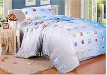 cotton bedsheet skype blue printed bedsheet for the kids