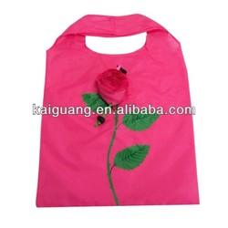 2014 Wholesale Rose Foldable Polyester Bag