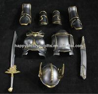 whole set soldier armour equipment metal accessories ,zinc alloy helmet and armour decoration