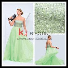 Off Shoulder Charming fashion beaded floor length chiffon long prom dresses