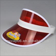 red waterproof plastic peak cap visor