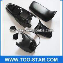 PY50 DIRT BIKE PLASTIC KIT SEAT TANK FENDER BLACK PARTS