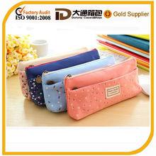 school zipped pocket pencil bag for wholesale 2014