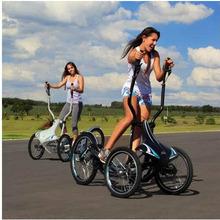 vélo elliptique cross trainer avec des roues