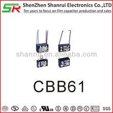 RoHS complaint high quality cbb61 capacitor 450v 5uf