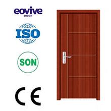 veneer flush wood classroom single leaf swing inner bathroom wter-proof mdf PVC door