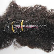 yuxi factory virgin remy brazilian kinky curly loop hair extension