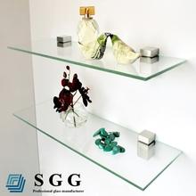 Top quality float glass book shelf