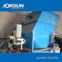 Lamella settling tank used in fiber recovery
