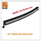 10w cree offroad led light bar HG-8626-288 50'' 288w cree led curved light bar 4x4 mini jeep car accessories parts