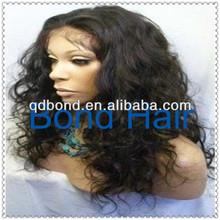 Beauty Fashion Wig Wavy Brazilian Human Hair Full Lace Wigs