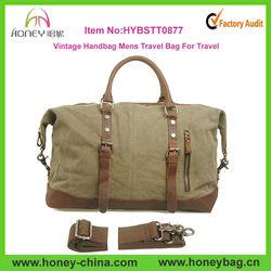 Green Large Canvas Vintage Handbag Mens Travel Bag