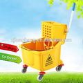 36L amarelo Mop balde espremedor com 4 rodas ( LBL-W36 )