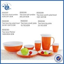 Two-tone Picnic Dinner Plastic Tableware
