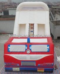 inflatable slide/ inflatable fire truck slide/dry slide